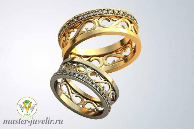 340a3429b180 Красивые обручальные кольца с драгоценными камнями заказать или ...