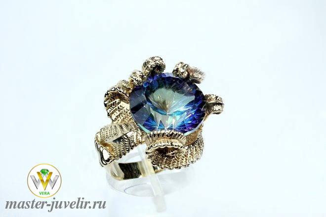 5a71f5b20646 Купить эксклюзивное кольцо с камнем мистик топаз. Ювелирная ...