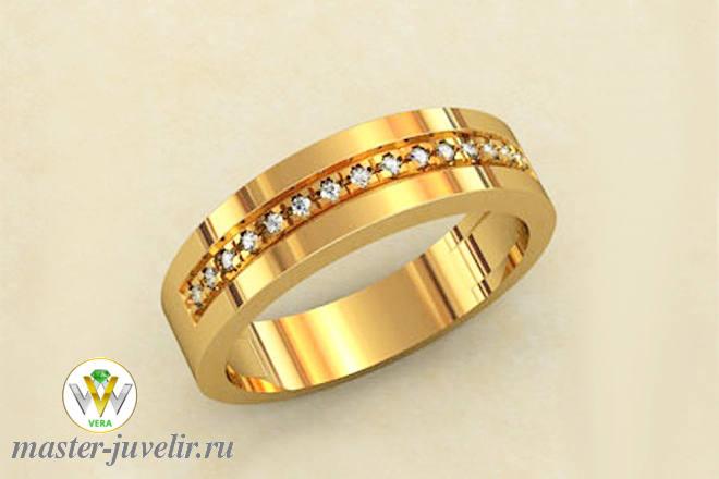 Кольцо золотое 585 пробы с дорожкой из бриллиантов заказать или ... d6c6791168179